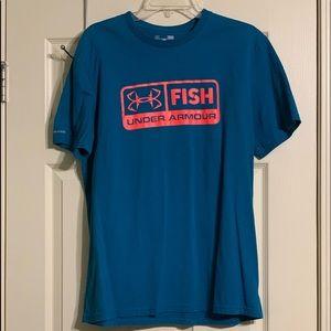 Under Armour Heatgear Fish Shirt Large Men's